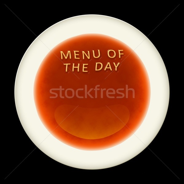 Alfabeto sopa palabras menú día naranja Foto stock © magann