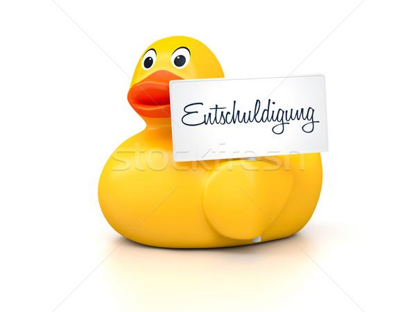 резиновые изображение Nice утки текста Сток-фото © magann