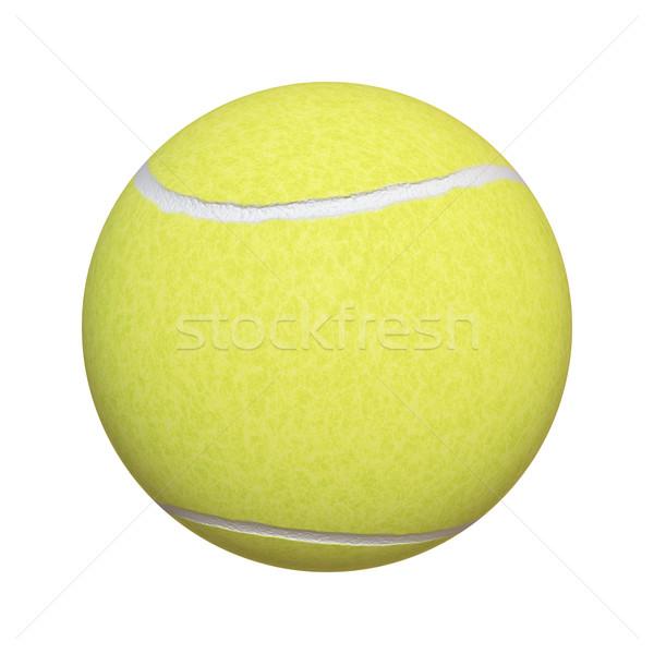 Piłka tenisowa obraz typowy odizolowany biały tekstury Zdjęcia stock © magann