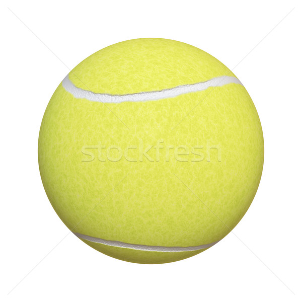Tennisbal afbeelding typisch geïsoleerd witte textuur Stockfoto © magann