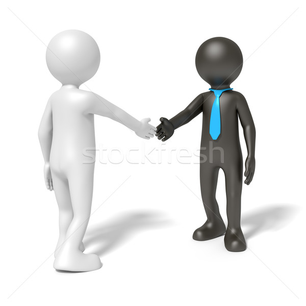 black and white man shaking hands Stock photo © magann