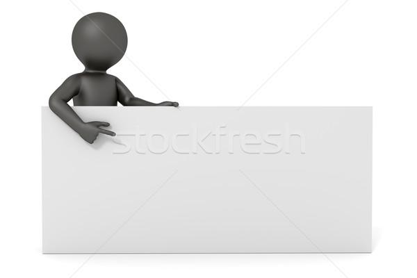 3次元の男 ホワイトボード 画像 黒人男性 スペース 紙 ストックフォト © magann