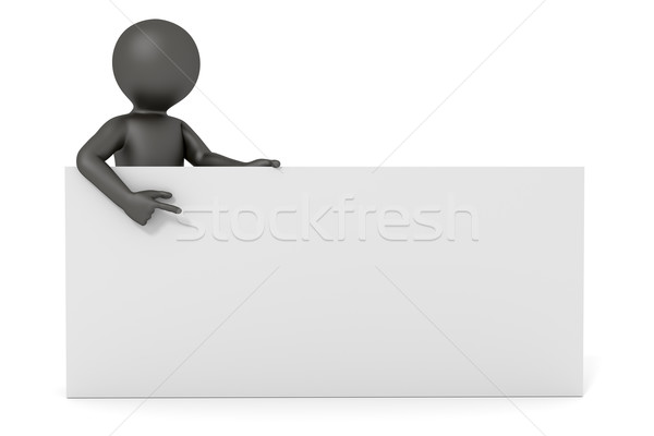 3d man white board Stock photo © magann