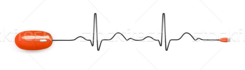 Elektrocardiogram computermuis afbeelding abstract hart achtergrond Stockfoto © magann