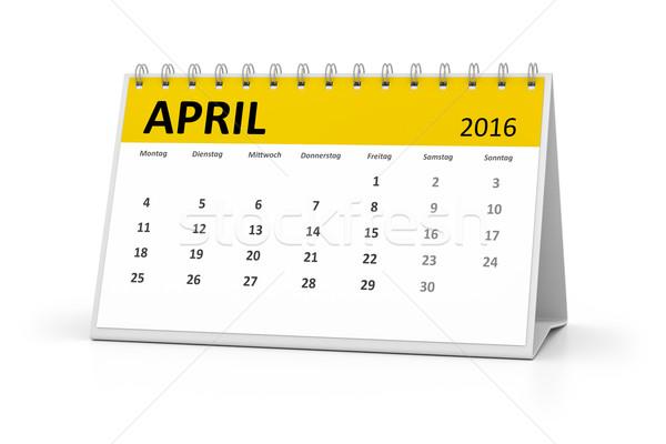 Linguagem tabela calendário 2016 eventos projeto Foto stock © magann