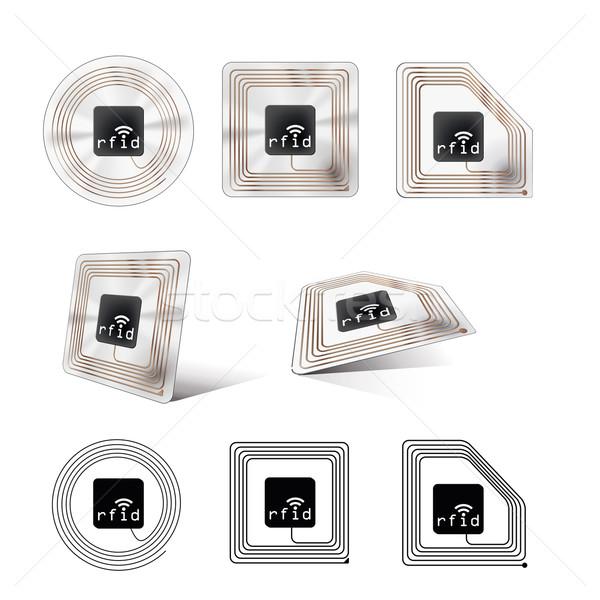 Chip set diverso guardando sicurezza Lab Foto d'archivio © magann