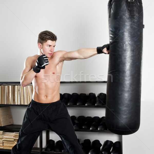 ボクシング 画像 男 スタジオ スポーツ 健康 ストックフォト © magann