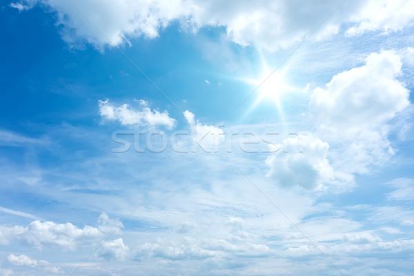 Blauwe hemel afbeelding heldere hemel abstract natuur Stockfoto © magann