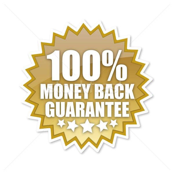 100 pour cent cent argent Retour garantir Photo stock © magann
