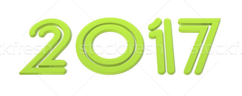 Stock photo: green happy new year 2017