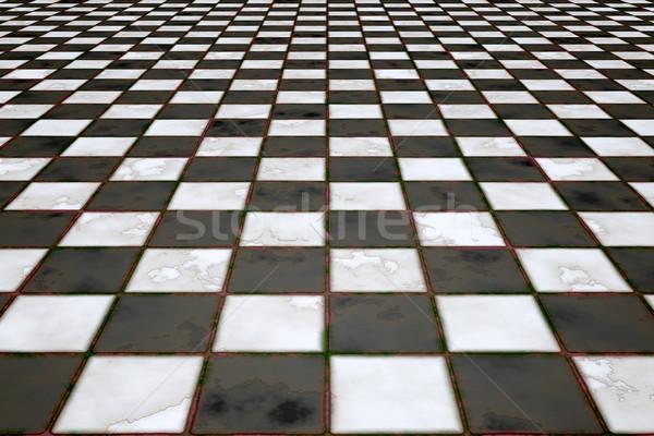 Zdjęcia stock: Czarno · białe · obraz · płytek · domu · ściany · świetle