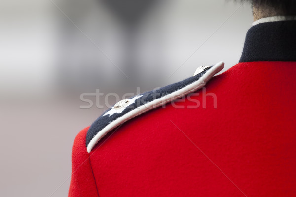 detail of the London guards uniform Stock photo © magann
