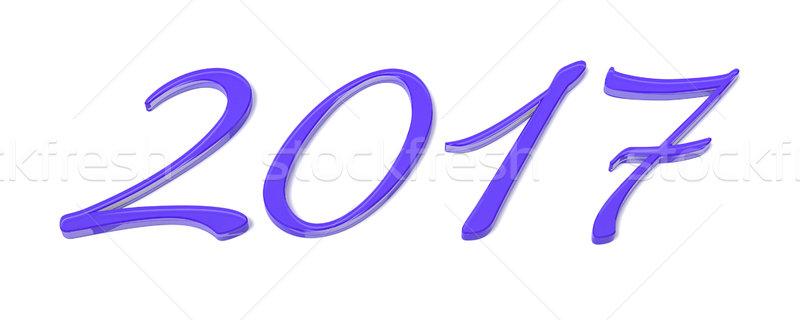 Paars gelukkig nieuwjaar 3D gelukkig ontwerp Stockfoto © magann