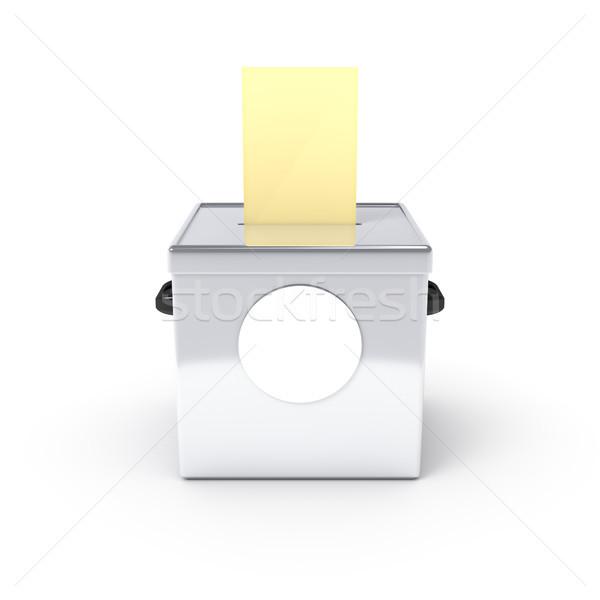 Szavazócédula doboz 3d illusztráció tipikus papír felirat Stock fotó © magann