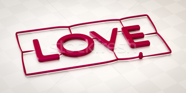plastic injection molding word love Stock photo © magann