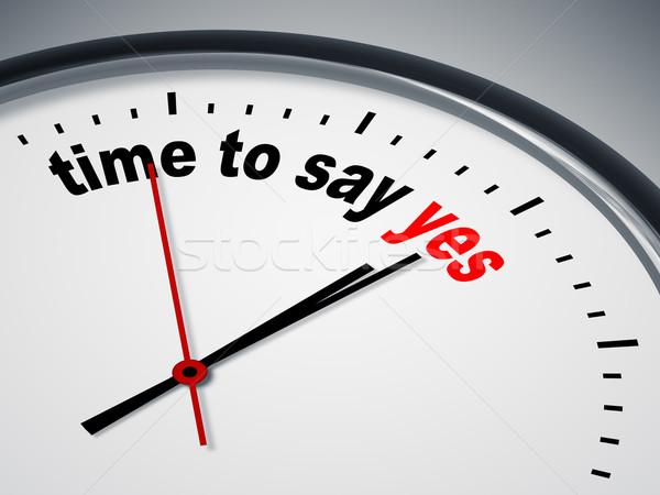 Foto stock: Tempo · sim · imagem · bom · relógio · negócio
