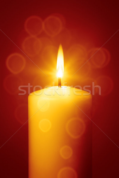 red christmas candle Stock photo © magann