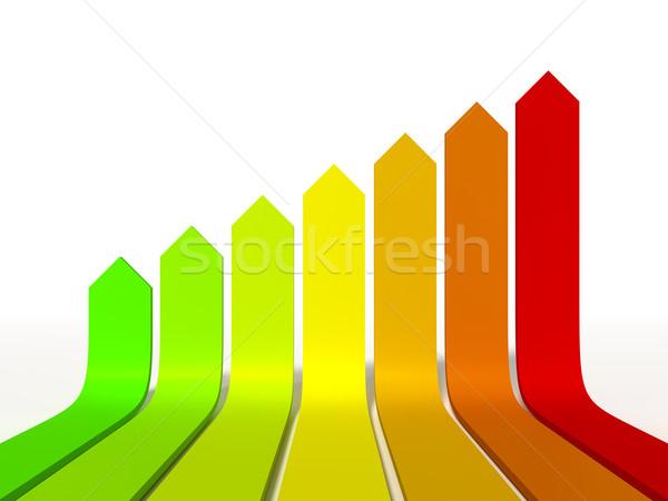 Efficacité énergétique graphique image maison design maison Photo stock © magann