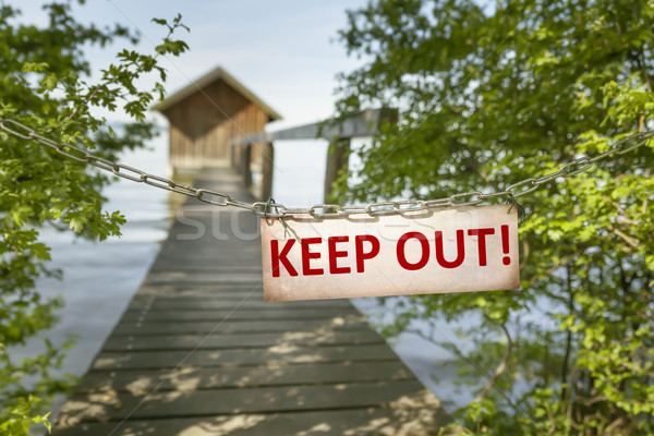 keep out sign Stock photo © magann