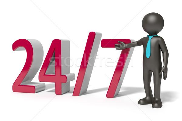 24 hizmet görüntü 7 gün siyah adam adam Stok fotoğraf © magann