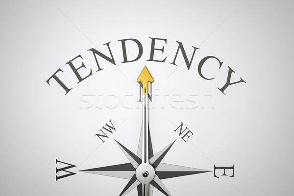 Kompas afbeelding mooie woord neiging textuur Stockfoto © magann