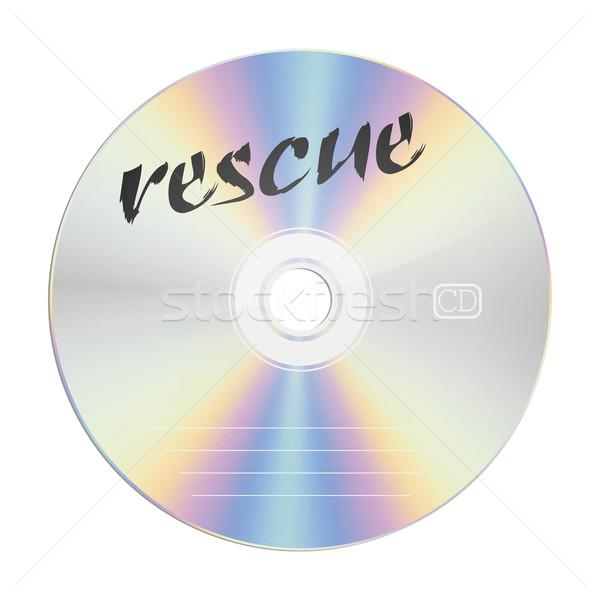 Redding afbeelding veiligheid compact disc computer kantoor Stockfoto © magann