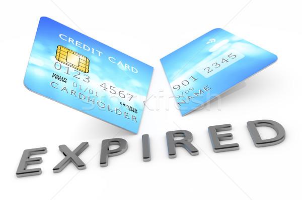 Cut кредитных карт 3D бизнеса фон Сток-фото © magann