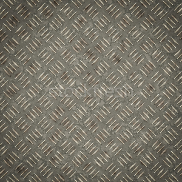 Stock photo: a diamond metal plate texture