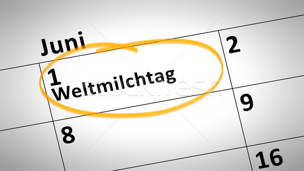 World Milk Day first of june in german language Stock photo © magann