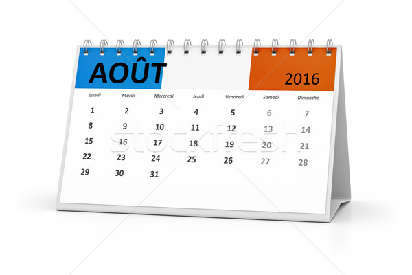 french language table calendar 2016 august Stock photo © magann