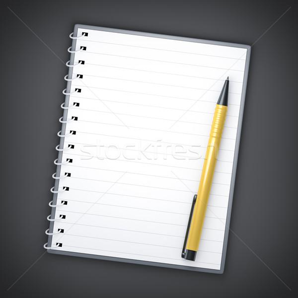 notepad and ballpen Stock photo © magann
