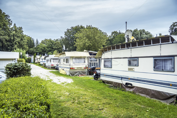 campsite at Starnberg Lake Stock photo © magann