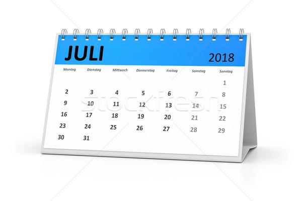 german language table calendar 2018 july Stock photo © magann