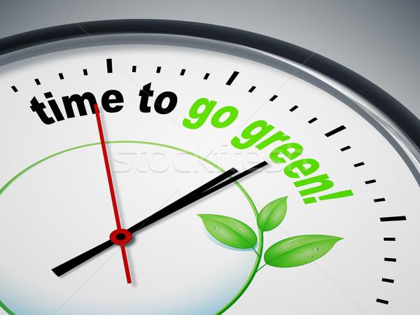 Stock fotó: Idő · zöld · kép · szép · óra · üzlet