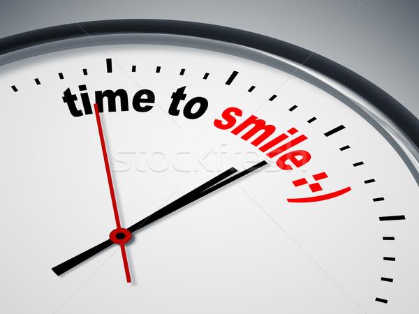 Foto stock: Tempo · sorrir · imagem · bom · relógio · negócio