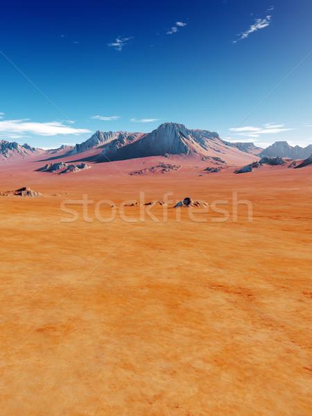砂漠 画像 いい 風景 空 ツリー ストックフォト © magann