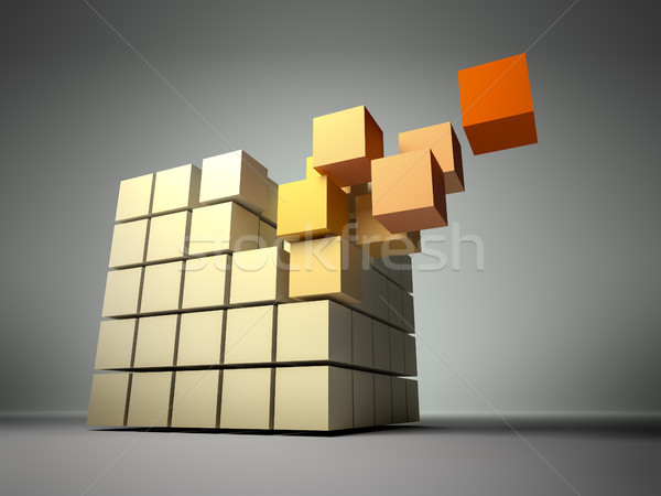 cube of cubes Stock photo © magann