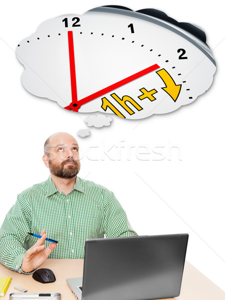 business man daylight saving time Stock photo © magann