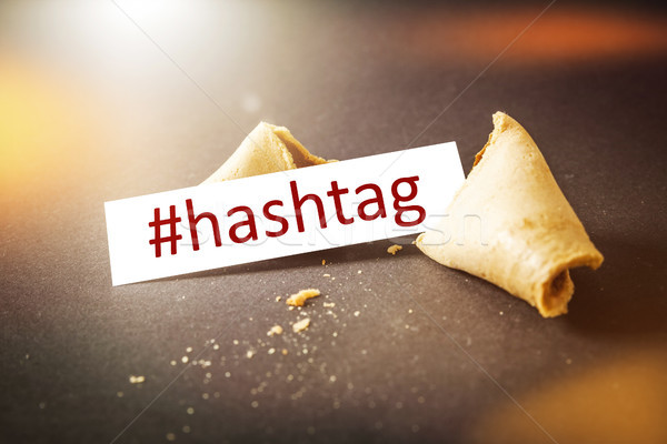 a fortune cookie with message hashtag Stock photo © magann