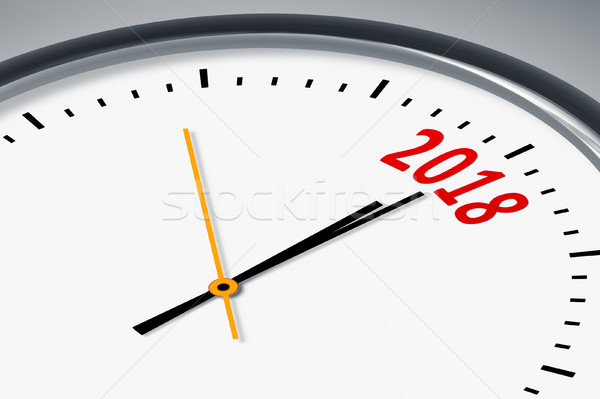 clock with the number 2018 Stock photo © magann
