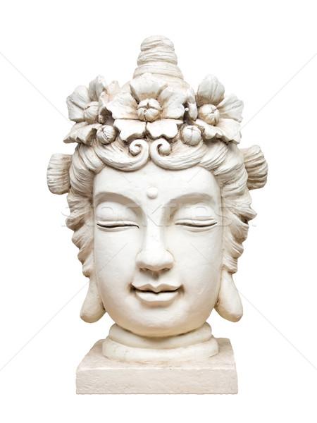 Buddha gezicht sculptuur afbeelding mooie witte Stockfoto © magann
