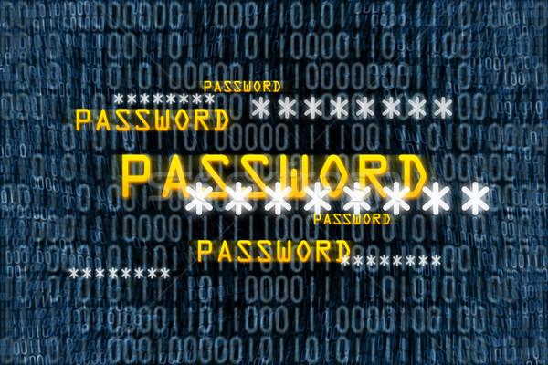 Binair wachtwoord afbeelding computer abstract achtergrond Stockfoto © magann