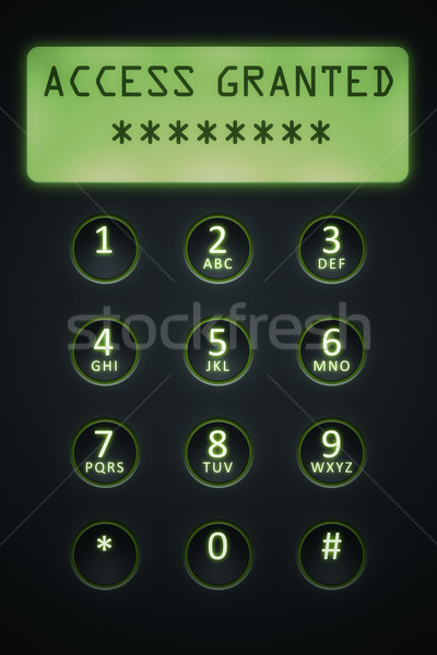 digital dial plate Stock photo © magann