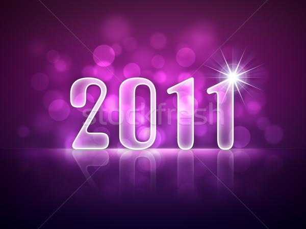 2011 capodanno biglietto d'auguri capriccioso luci felice Foto d'archivio © magann