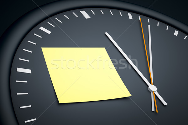 clock with sticky note Stock photo © magann