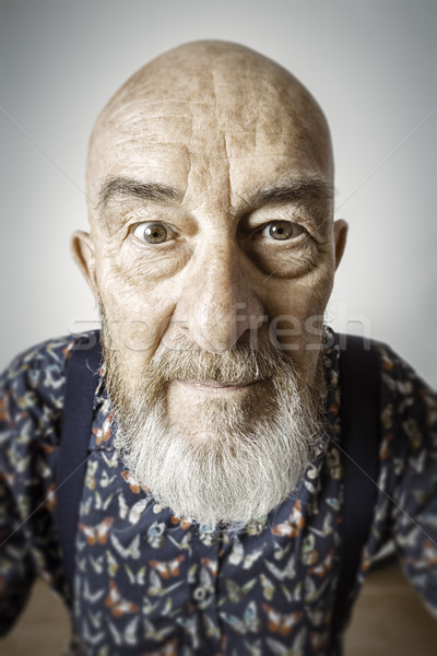 old man wide angle portrait Stock photo © magann