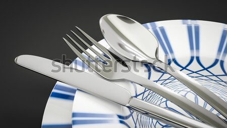 some typical style dishware Stock photo © magann