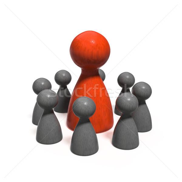 game figures building a team Stock photo © magann