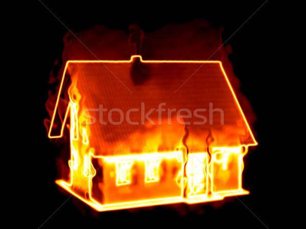 house on fire Stock photo © magann
