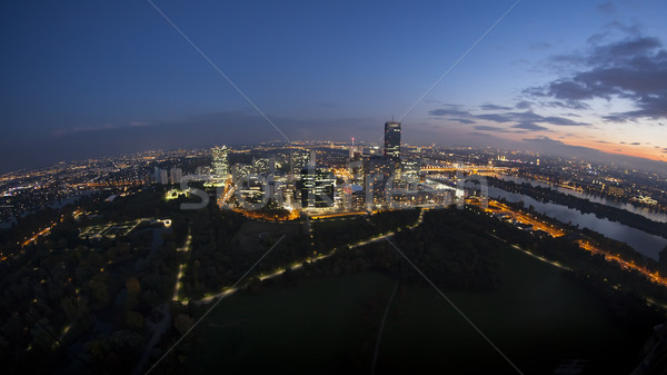 Vienna from above by night Stock photo © magann
